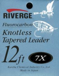 riverge konisches Vorfach, 03x (0,39mm) Fluocarb riverge Vorfach 12Fuß 03x
