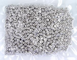 Tungsten Kopfperlen nickel-silver im Bulk 250 Stück