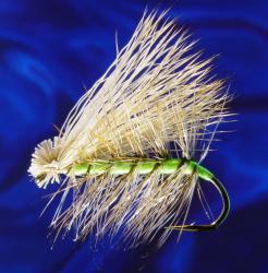 Fluo. Green Caddis (Rehhaar) #8
