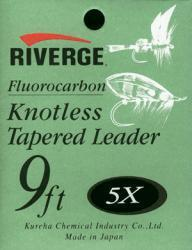 riverge tapered leader 9 long, 02x (0,36mm) Fluocarbo riverge leader 9feet 02x