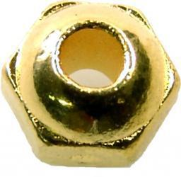 Faceted Tungsten Beads gold (bulk 1000)